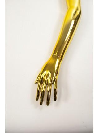 Рука женская левая металлизированная (золото)