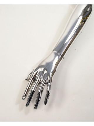 Рука женская левая металлизированная (платина)