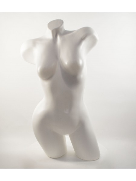 Манекен Венера изогнутая белая матовая