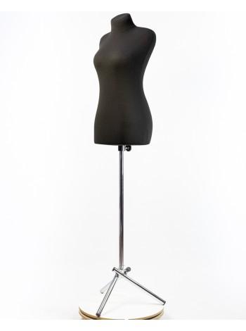Манекен портновский черный мягкий модель Любовь 40 размер