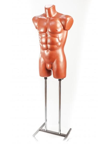 Манекен мужской костюмный пластиковый Давид терракот на подставке