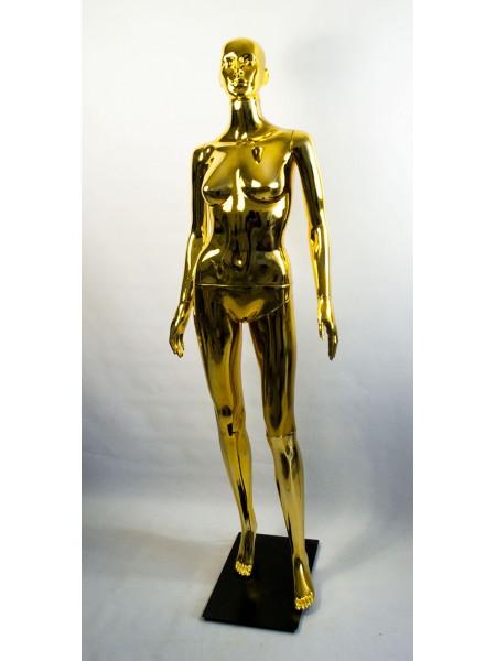 Манекен женский металлизированный Сиваян ВГ (золото)