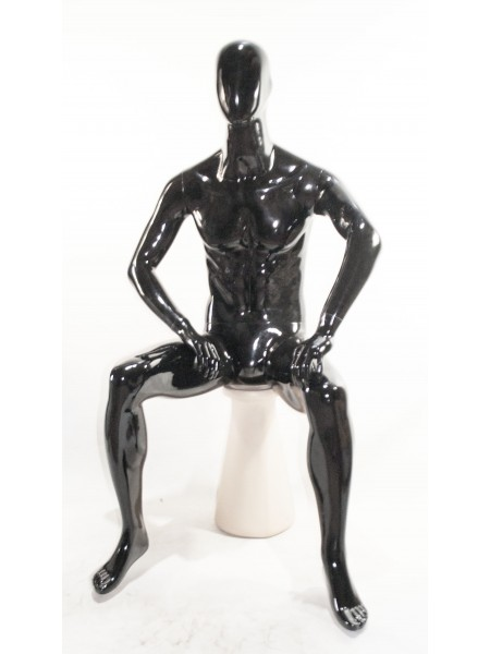 Манекен  мужской сидячий черный DF-2