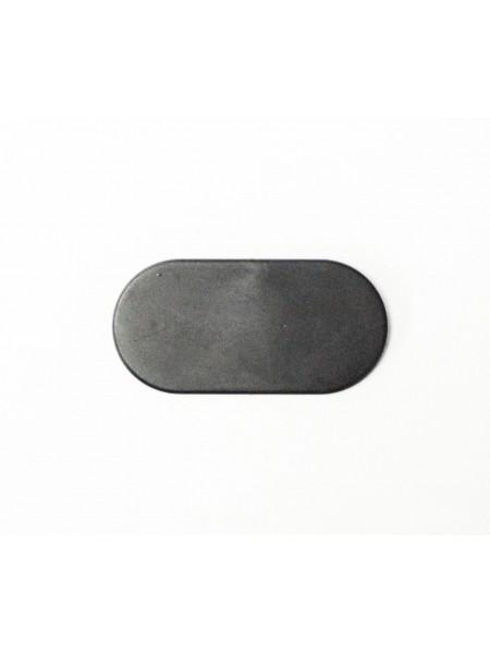 Таргетка пластиковая овальная для плечиков под логотип черная 55 х 25 мм