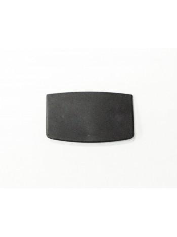 Таргетка пластиковая трапеция для плечиков под логотип черная 60 х 30 мм