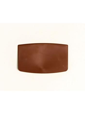 Таргетка пластиковая трапеция для плечиков под логотип коричневая (шоколад) 60 х 30 мм