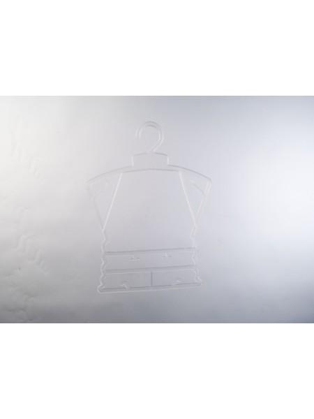 Вешалка-рамка пластиковая полупрозрачная матовая для детской одежды и белья маленькая 23 см.