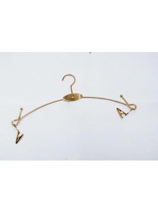 Вешалка бельевая металлическая с прищепками на шарнирах лофт (28см)