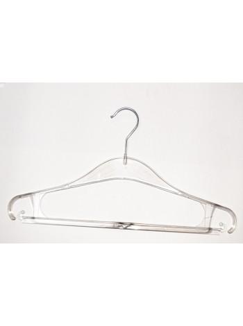 Плечики пластиковые прозрачные для тяжелой одежды Турок-2 GPPS1 39 см.