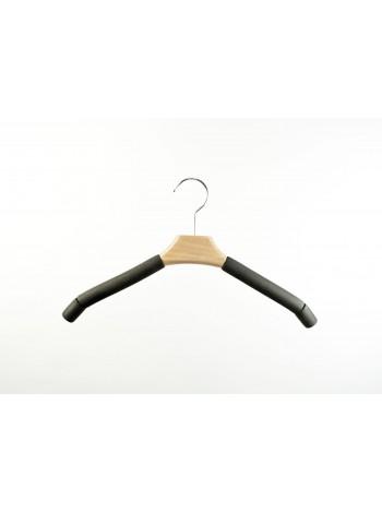 Плечики трикотажные деревянные с поролоновыми наконечниками 45см.