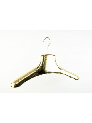 Вешалка шубная пластиковая металлизированная блестящая( цвет-золото) 38см