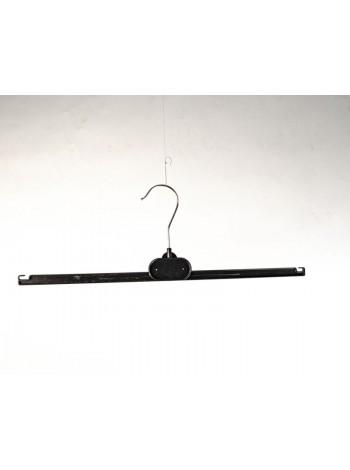 Перекладина пластиковая с металлическим крючком  30 см черная