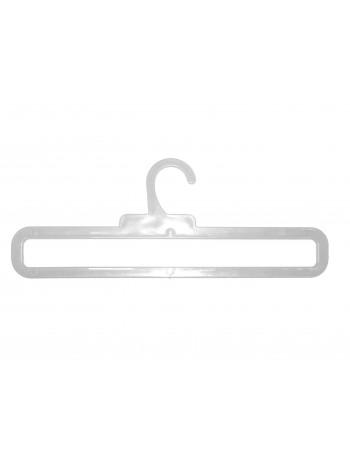 Вешалка для шарфов пластиковая гладкая ТШ-2 прозрачная 35 см