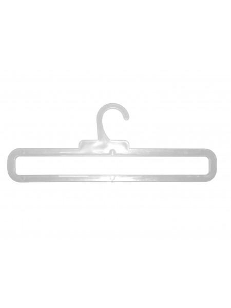 Вешалка для шарфов гладкая пластмассовая ТШ-2 прозрачная 30 см
