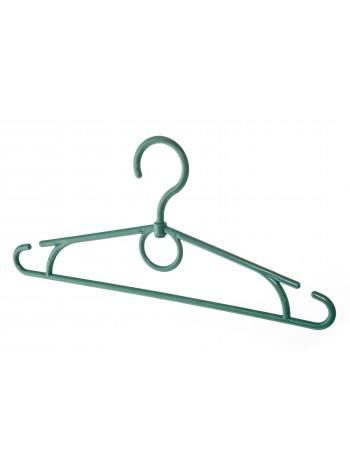 Плечики пластиковые с поворотным крючком детские 32см зеленые