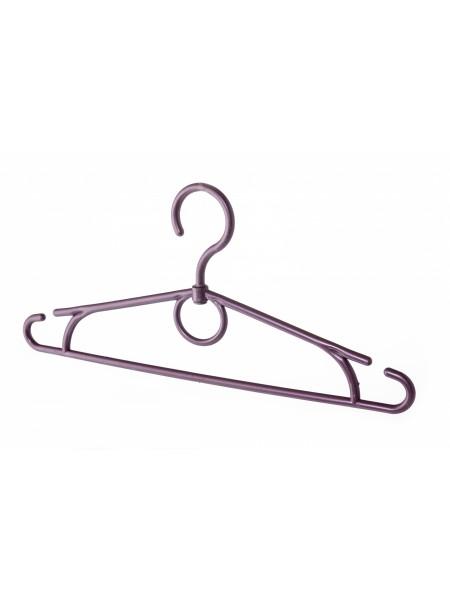 Плечики  32см фиолетовые пластмассовые с поворотным крючком для детской одежды