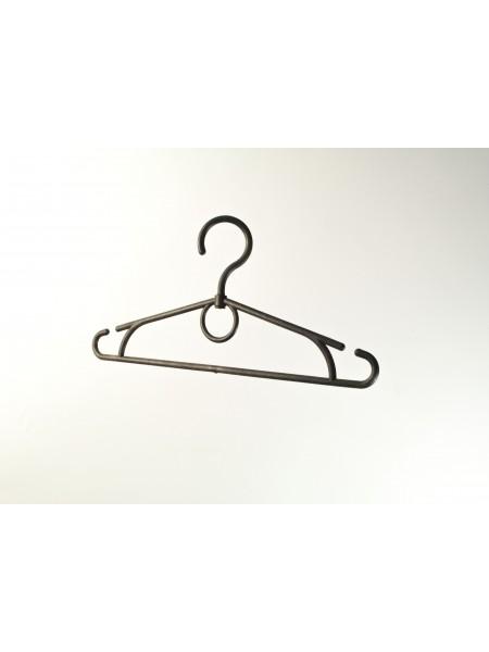 Плечики детские пластмассовые черные (Z) с крутящимся крючком