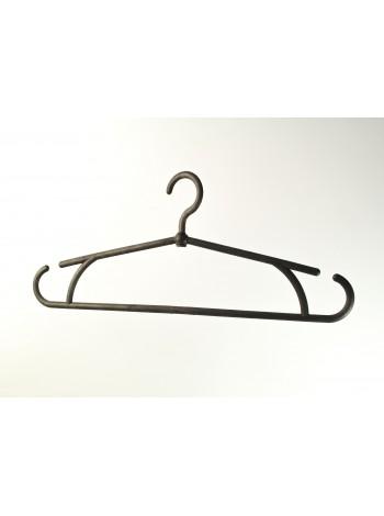 """Плечики """"Осень"""" черные(эконом) пластмассовые для осенней, весенней одежды 40 см."""