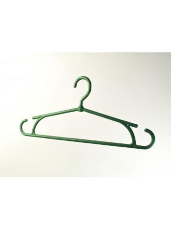 """Плечики пластиковые цветные для тяжелых вещей """"Зима"""" зеленые 40 см"""