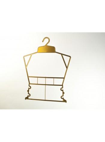 Вешалка рамка домик пластиковая для детской одежды бронзовая 30 см