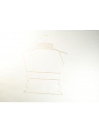 Вешалка рамка домик пластмассовая белая для детских вещей P1  жемчуг
