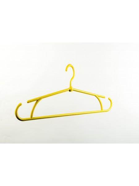 """Плечики """"Осень"""" пластиковые для демисезонной одежды желтые(5%) 40 см."""