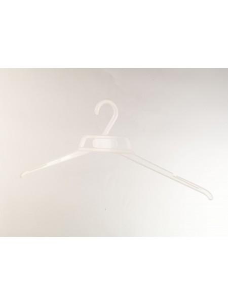 Вешалка легкая полупрозрачная пластиковая литая 42 см