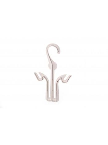 Вешалка крючок пластмассовая для обуви матовая полупрозрачная