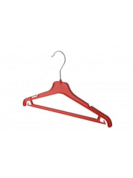 Плечики детские пластиковые ребристые с перекладиной ВКР-35 (красные) 35 см