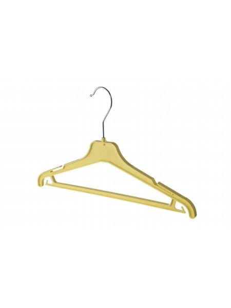 Плечики детские пластиковые ребристые с перекладиной ВКР-35 (желтые) 35 см