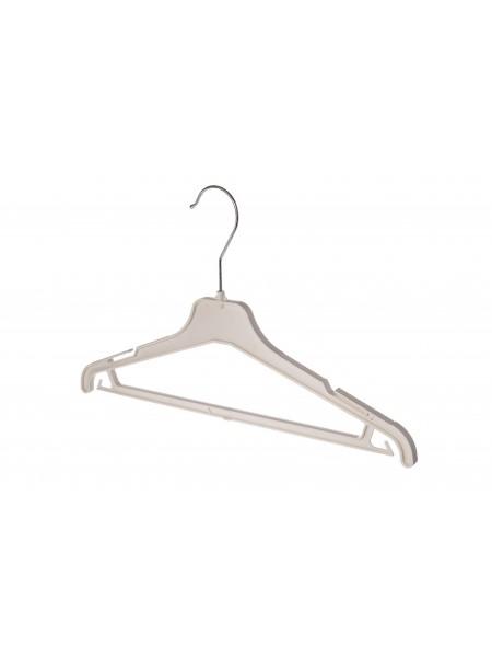 Плечики женские пластиковые костюмные ребристые 40см s2white белые