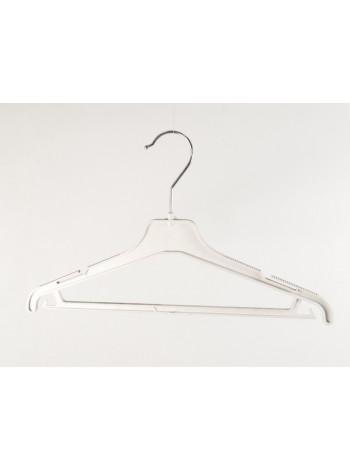 Плечики женские пластиковые костюмные ребристые 45см s2white(TO) белые