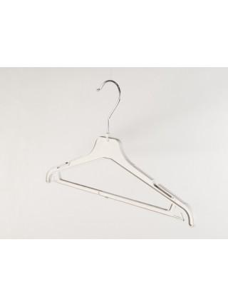 Плечики женские пластиковые костюмные ребристые 40см s2white(TO) белые
