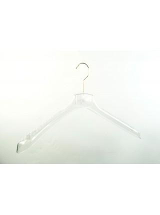 Вешалка для верхней мужской одежды пластиковая ВОП 45/5 GPPS1 прозрачный 45 см.