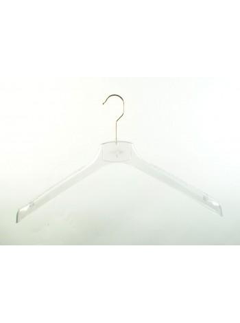Плечики пластмассовые для верхней женской одежды ВОП 42/4 GPPS1 прозрачные 42 см.