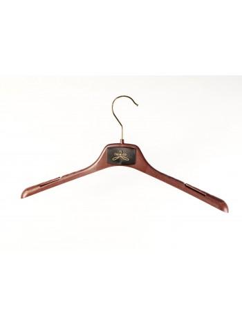 Плечики-вешалка пластиковая универсальная для любых видов одежды ВОП-42/2,8см S2color(G)20517 коричневый 42 см.