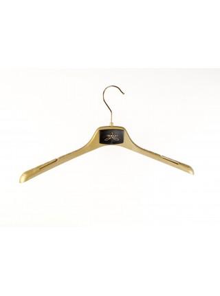 Плечики-вешалка пластиковая универсальная для любых видов одежды ВОП-42/2,8см GPSM2 (золотистый) 42 см.