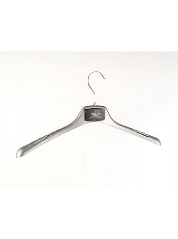 Плечики-вешалка пластиковая универсальная для любых видов одежды ВОП-42/2,8см GPSM2 (серебристый) 42 см.