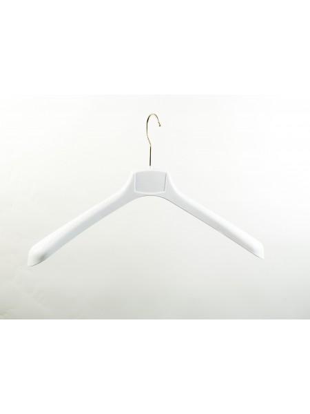 Вешалка пластиковая для верхней одежды мужская ВОП 45/5 GPPS2 Белая 45 см.