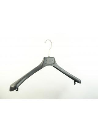 Плечики вешалки широкие пластиковые для мужской верхней одежды широкие ВОП Премиум 45/55 с креплениями под перекладину s3black