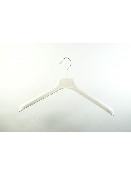 Плечики широкие пластиковые ВОП 42/4 s2white кремовый 42 см.