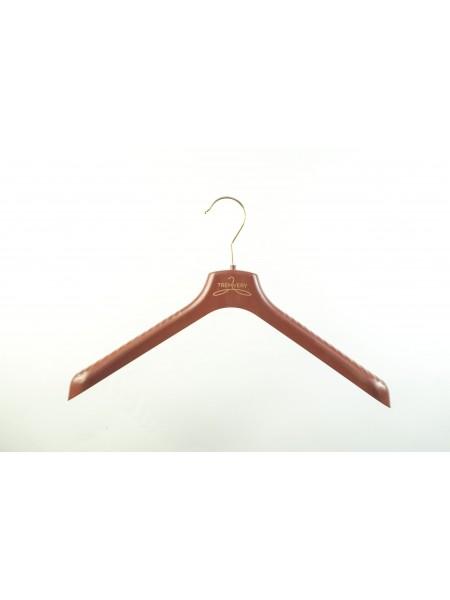 Плечики широкие для детской верхней одежды  ВОП 38/5 шоколадно-коричневые корпоративные 38 см
