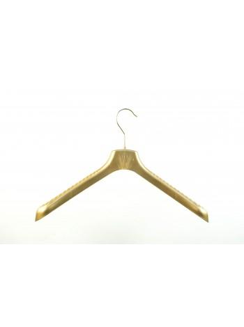 Плечики для верхней одежды пластмассовые широкие ВОП 40/5 бронза 40 см.