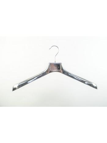 Плечики пластиковые с обьемным плечом ВОП 47/6 металлизированные (Платина) 47 см.