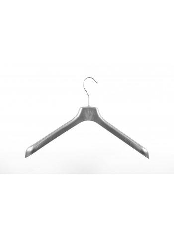 Плечики для верхней одежды пластмассовые широкие ВОП 40/5 металлик 40 см.