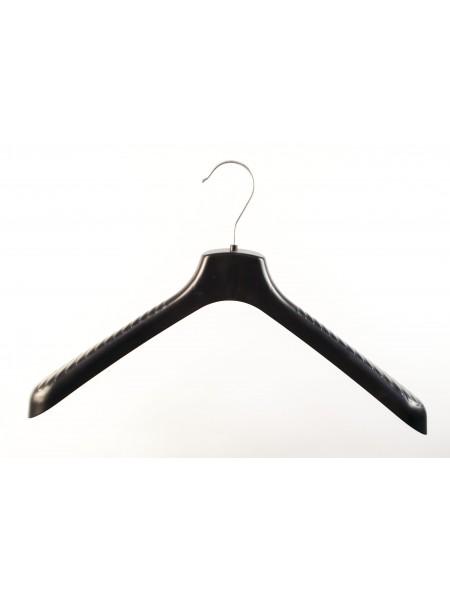 Плечики пластмассовые для верхней одежды широкие ВОП 40/5 S3black черные 40 см.