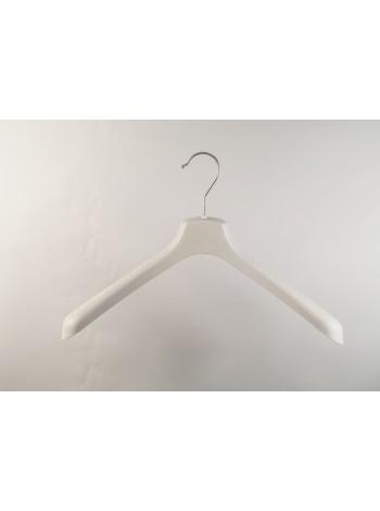 Плечики пластмассовые широкие ВОП 40/5 S2white (кремовые) 40см.