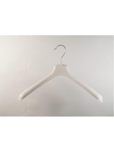 Плечики пластмассовые для детской верхней одежды широкие ВОП 38/5 S2white кремовые 38см.