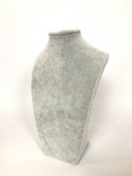 Бюст высокий для украшений серый