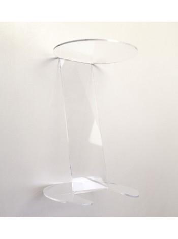 Подставка для шапок акриловая прозрачная для полок